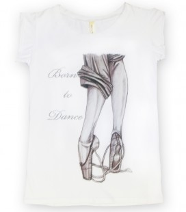"CAMISETA ""BORN TO DANCE"" MOD. 4"
