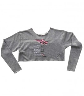 "SUDADERA ""DANCE DOESN'T STOP"" ROSA"