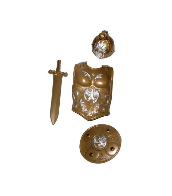 Coraza-Escudo-Casco-Espada Oro Inf