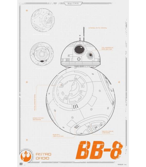 PÓSTER STAR WARS BB-8