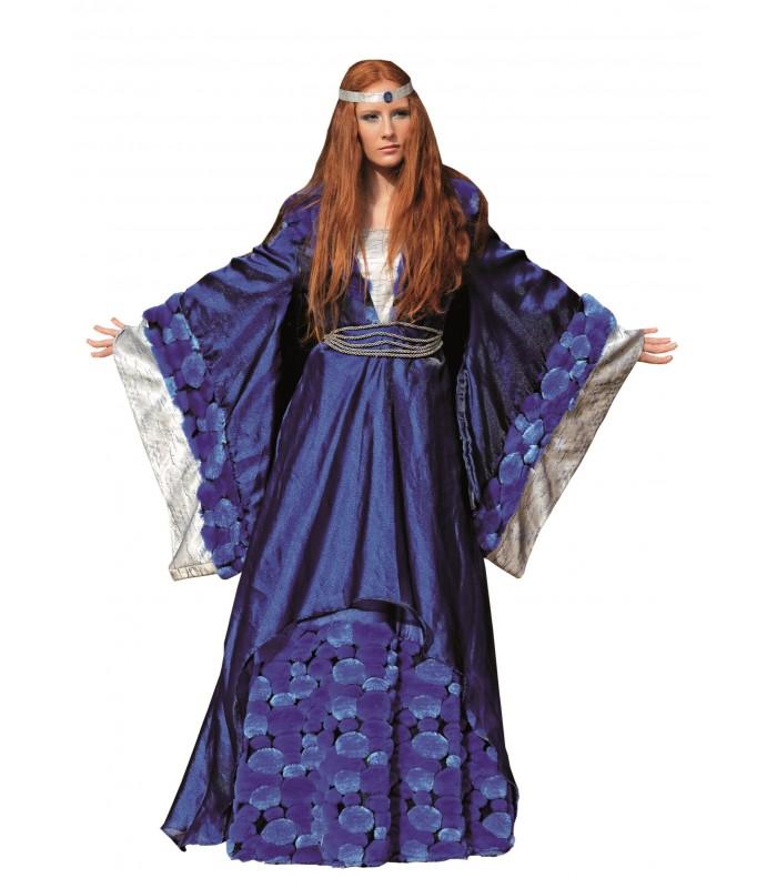 Disfraz Reina Medieval Bella Azul - Adulto - Mujer - Disfraces Maty