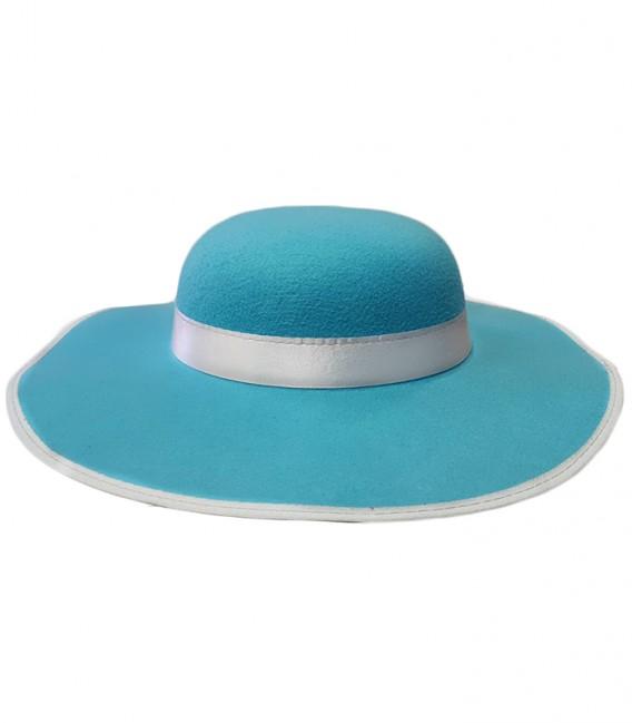 Sombrero Pamela azul - Disfraces Maty 312c30abfba6