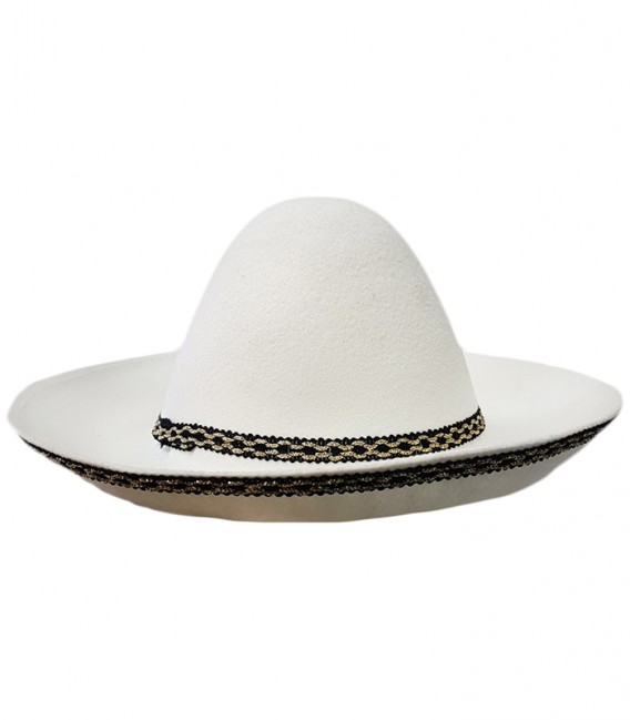 Sombrero mexicano blanco - Disfraces Maty 98bd71dc82e