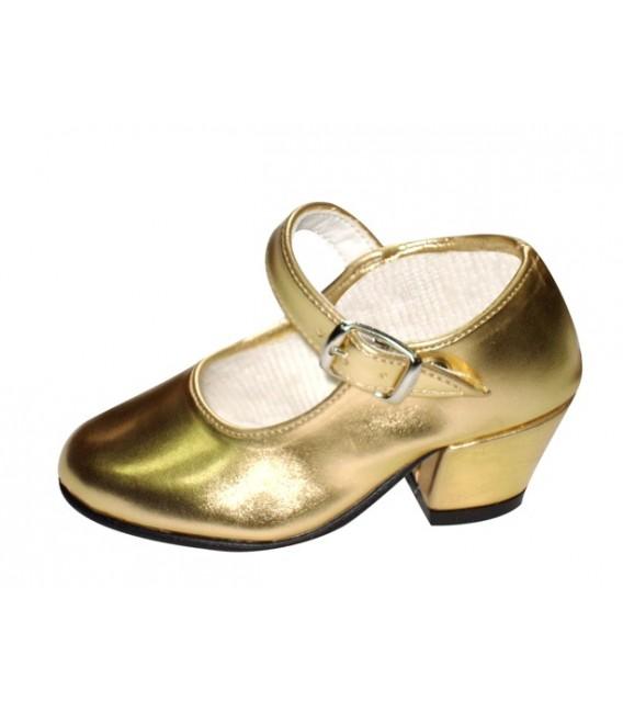 Zapatos Dorado Tacón