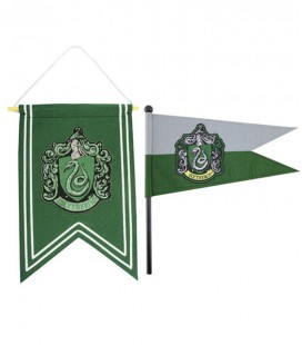 BANDERA Y ESTANDARTE SLYTHERIN