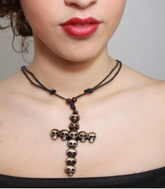 COLLAR CRUZ CALAVERAS