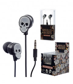 AURICULARES SKULL AND ROSES