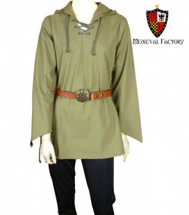 CAMISA MEDIEVAL MUJER CON CAPUCHA